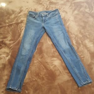 Levis skinny cropped ankle jeans